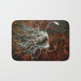 angry angler fish Bath Mat