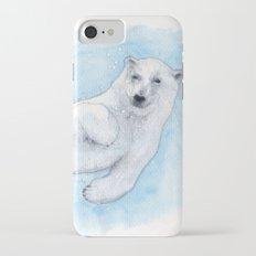 Polar bear underwater iPhone 7 Slim Case