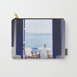 House and beach Carry-All Pouch