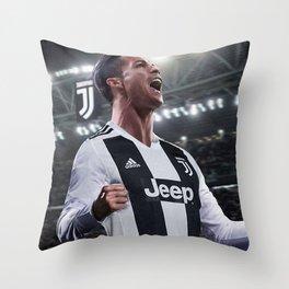 Cristiano Ronaldo Juve CR7 Throw Pillow