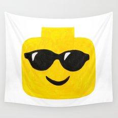 Sunglasses - Emoji Minifigure Painting Wall Tapestry