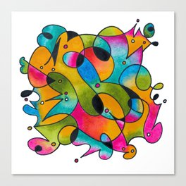 Abstract Gradient Critters Canvas Print