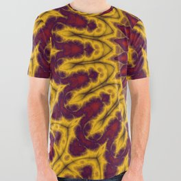 Mandala Fractal in Indian Summer 02 All Over Graphic Tee