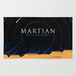 Martian Background Rug