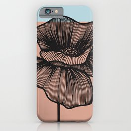 Black Poppy iPhone Case