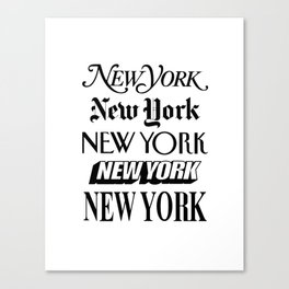 I Heart New York City Black and White New York Poster I Love NYC Design black-white home wall decor Canvas Print
