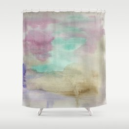 Emulsion - Watercolor Painting Shower Curtain