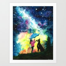 Raining stars Art Print