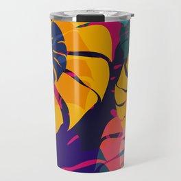 Aloha Floral Pop Art Pattern Travel Mug