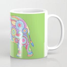 Elephant Flower Doodle Coffee Mug