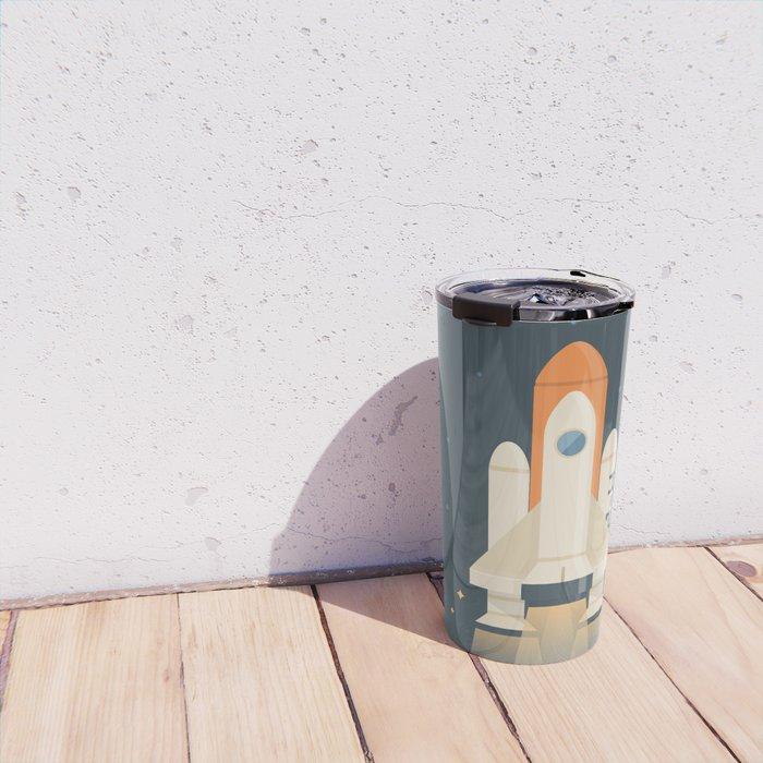 Spaceship Launch Travel Mug