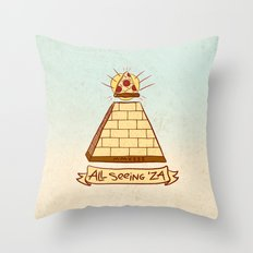 THE ALL SEEING 'ZA Throw Pillow