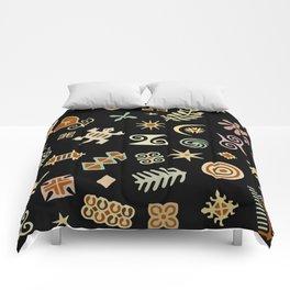 African Adinkra Symbols Comforters
