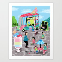 I Scream for Ice Cream Art Print