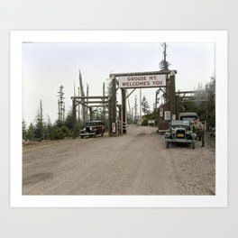 Entrance on the road to Grouse Mountain, Vancouver, 1929 Art Print