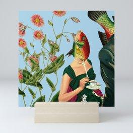 fish soul mate Blue #collage Mini Art Print