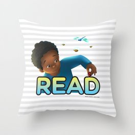 Read With Dylan! Throw Pillow