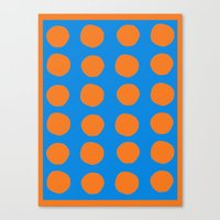 polka Canvas Prints featuring Polka  by Ruth Shaffer Art and Designs