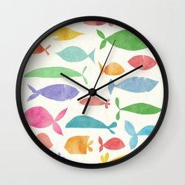 Fish family Wall Clock