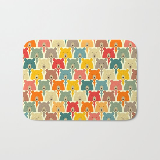 Bears cartoon pattern Bath Mat