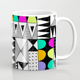 neon colors pattern with doodle elements. Coffee Mug