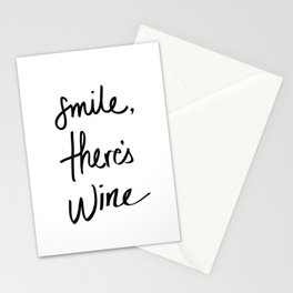 Smile - Wine Stationery Cards