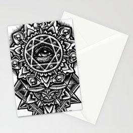 Eye of God Flower Stationery Cards