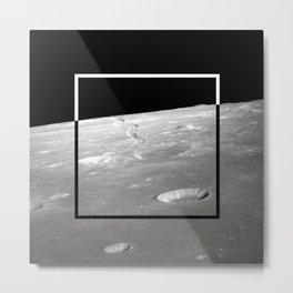 Moon Geometry Metal Print