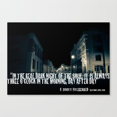In the Real Dark Night Canvas Print