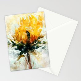Born in Sunflower Stationery Cards