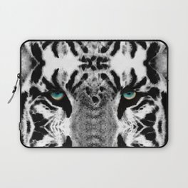 Dressed To Kill - White Tiger Art By Sharon Cummings Laptop Sleeve