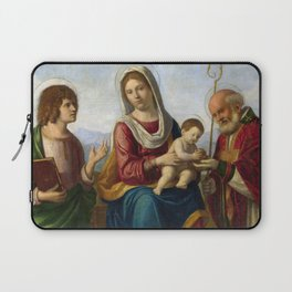 Cima da Conegliano Madonna and Child with Saints John the Evangelist and Nicola of Bari Laptop Sleeve