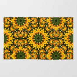 Floral mandala-style , California Poppies 004.1 Rug