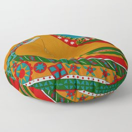 Portuguese Fishing Boats - Vintage Travel Floor Pillow