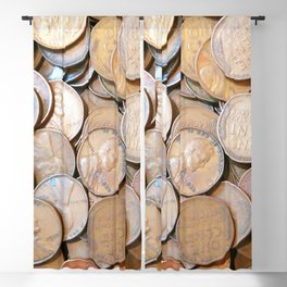 Watercolor Coins, Lincoln Wheat Pennies, 1937 01 Blackout Curtain