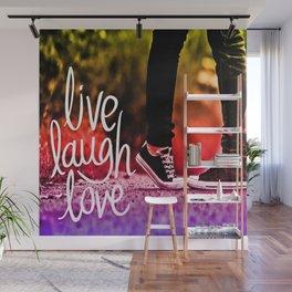 Live, laugh, love pop art Wall Mural