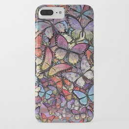 butterflies aflutter colorful version iPhone Case