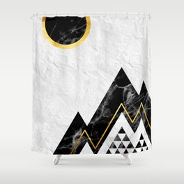 Black Mountains Shower Curtain