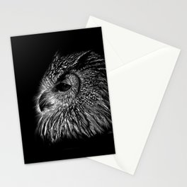 Black and White Owl Stationery Cards