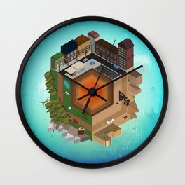 A Tiny World Wall Clock