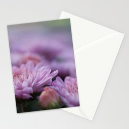 purple mums Stationery Cards
