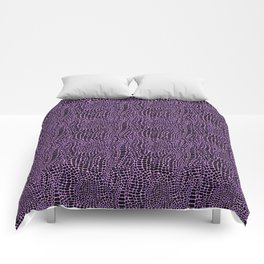 Neon crocodile/alligator skin Comforters