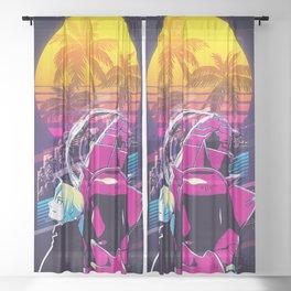 Elric Edward Fullmetal Alchemist 80s retro vintage Sheer Curtain