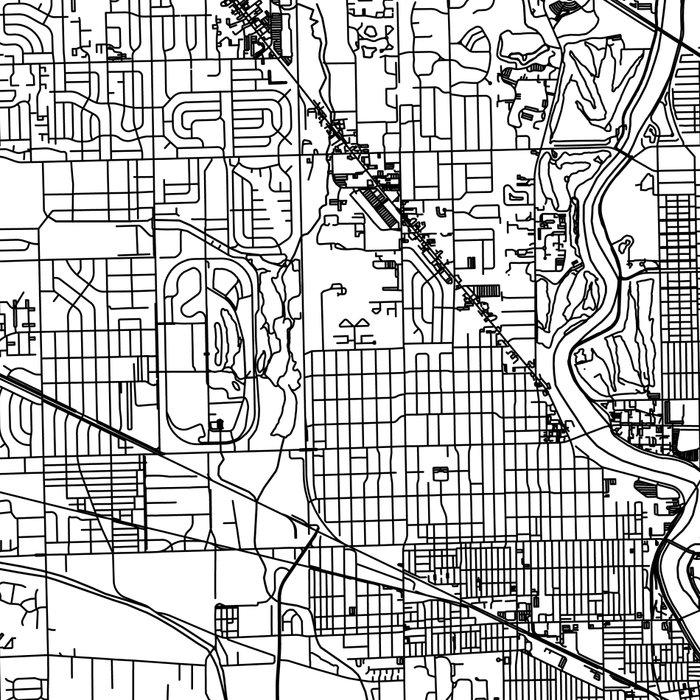 Indianapolis White Map Leggings