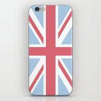 union jack iPhone & iPod Skins featuring Union Jack by Alesia D