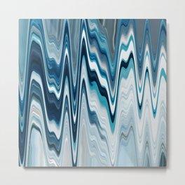 blue art, wave art, ocean art, earth art, contemporary print, painting print, beautiful art, wall de Metal Print