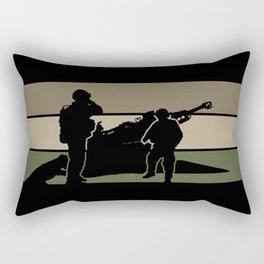 Field Artillery Rectangular Pillow