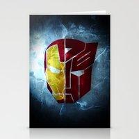 transformer Stationery Cards featuring Iron man x Transformer by Joe Fletcher