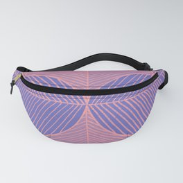 Minimal Tropical Leaves Pink Blue Fanny Pack