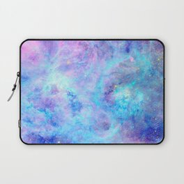 Bright Tarantula Nebula Aqua Lavender Periwinkle Laptop Sleeve